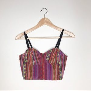 Forever 21 Tribal Aztec Colorful Crop Top